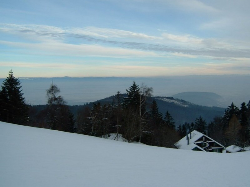 House and Alps in the winter